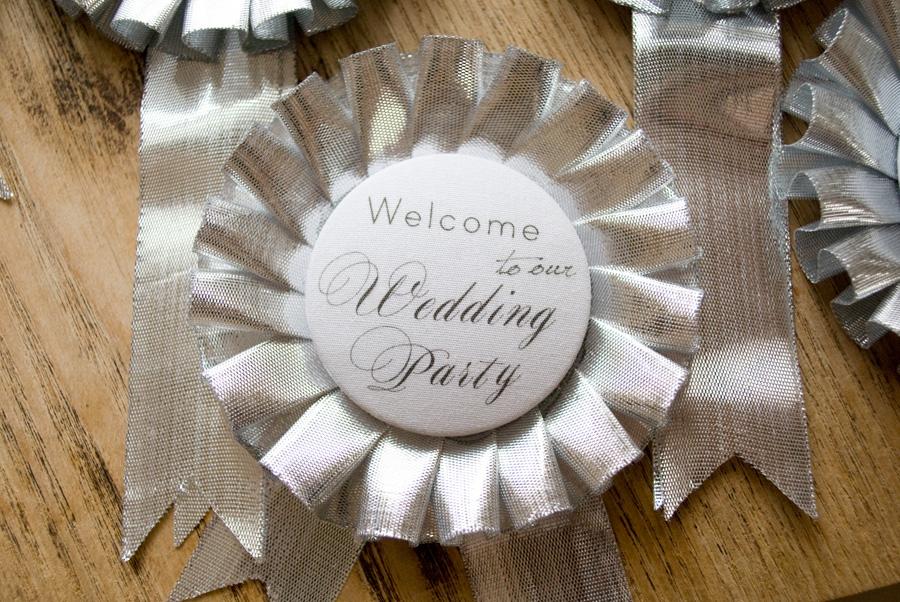 結婚式 手作り 席札 ロゼット プレ花嫁